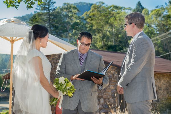 Wedding Vows at Jack London State Historic Park